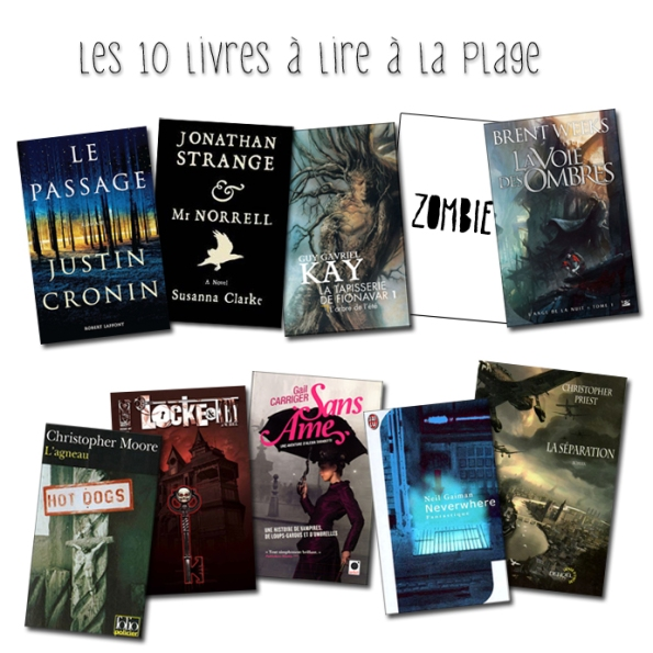 Top ten tuesday les 10 livres à lire à la plage