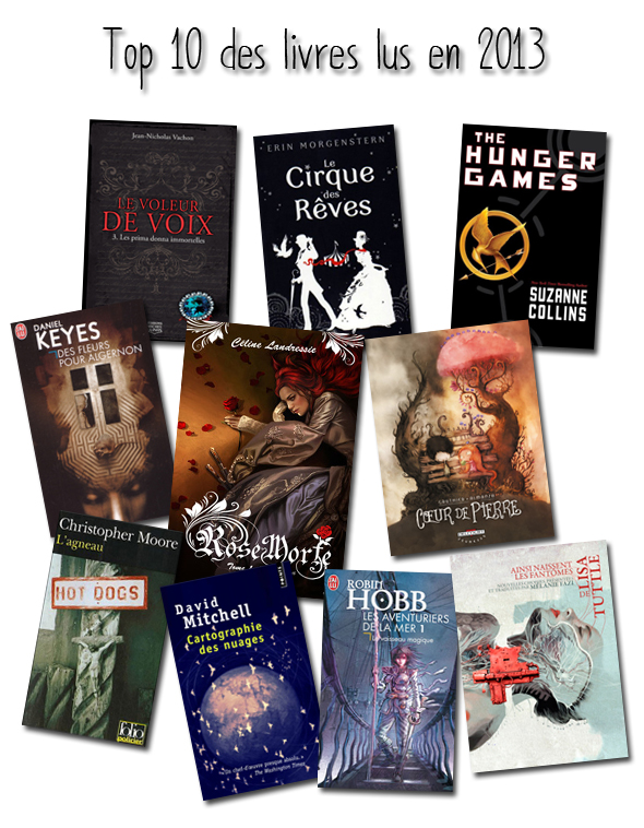 Top ten tuesday - Top 10 des livres lus en 2013