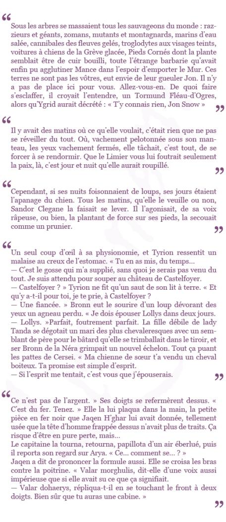extraits La loi du regicide G R R Martin Le trone de fer
