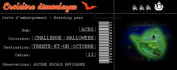 Halloween carte embarquement