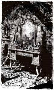 La musique du silence Rothfuss illustration intérieure Marc Simonetti