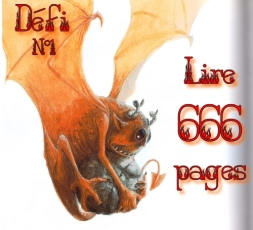 readathon Halloween defi 1 Lire 666 pages