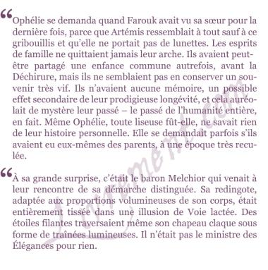 extraits Les disparus du Clairdelune Christelle Dabos La passe-miroir tome 2
