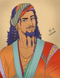 Le bucher d'un roi G.R.R. Martin illustration Daario Naharis