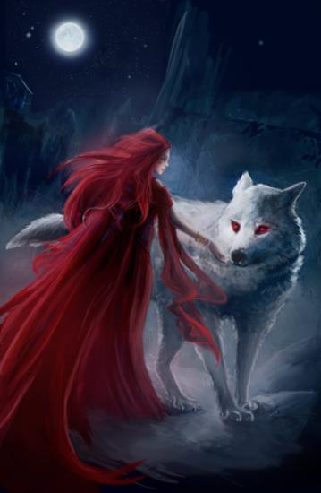 Melisandre et Fantome Les dragons de Meereen Martin