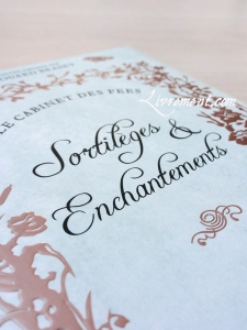 Sortileges et enchantements details couverture
