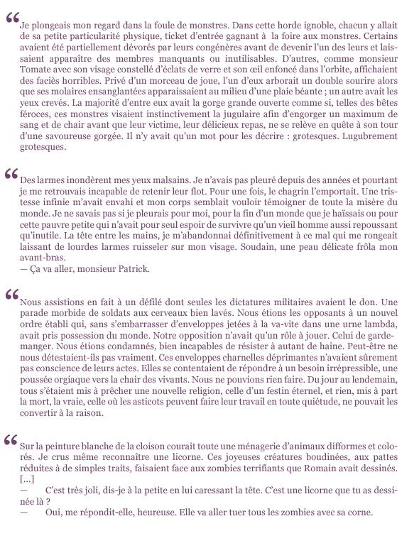 extraits Les décharnés Paul Clément