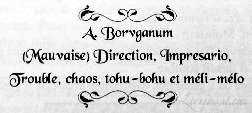 Le Carnaval aux Corbeaux certificat Borvganum