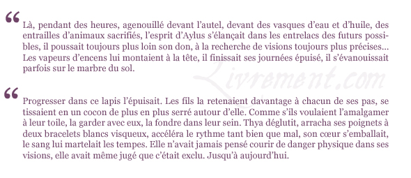citations Aylus Estelle Faye La voie des oracles tome 3