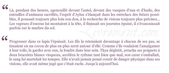 citations Aylus Estelle Faye La voie des oracles tome 3